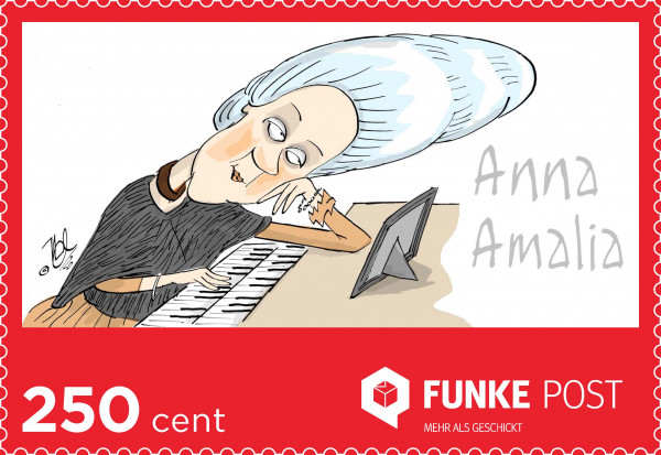 FUNKE Post Briefmarke Maxibrief