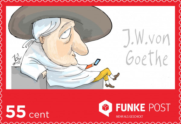 FUNKE Post Briefmarke Postkarte