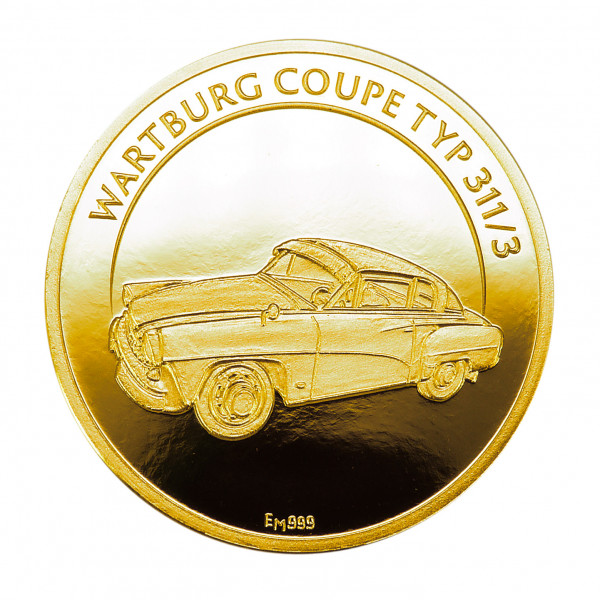Medaille Wartburg Coupe Gold