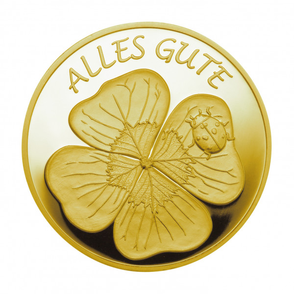 Medaille Alles Gute Gold