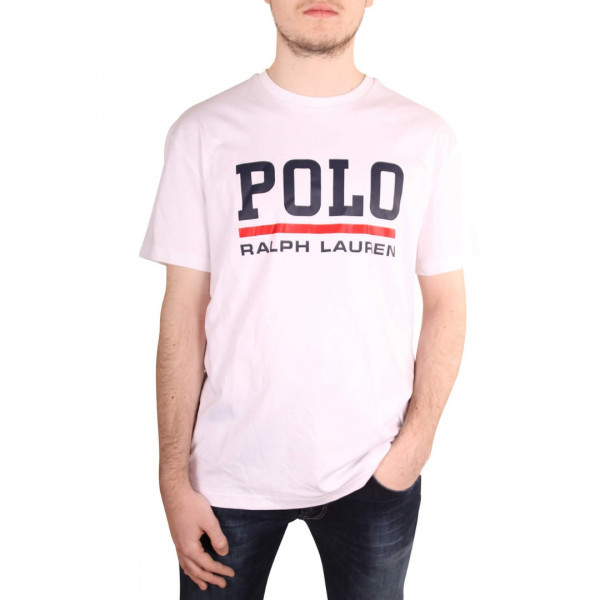 POLO RALPH LAURENT T-Shirt in weiß