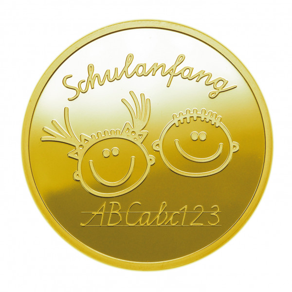 Medaille Schulanfang Gold