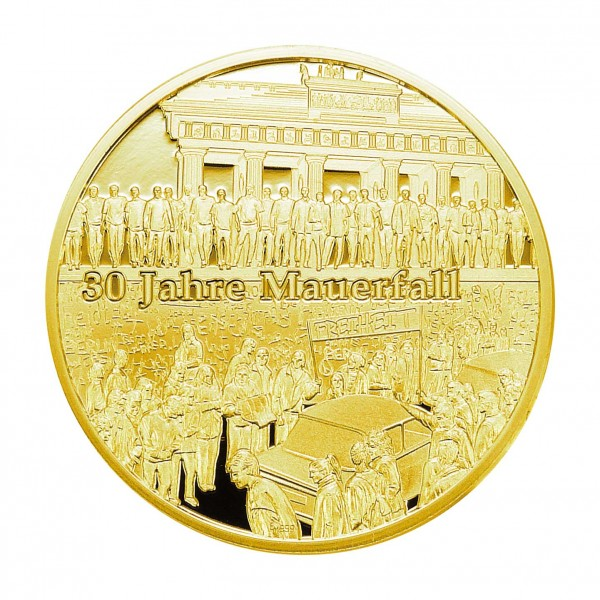 "Medaille ""30 Jahre Mauerfall"" gold"